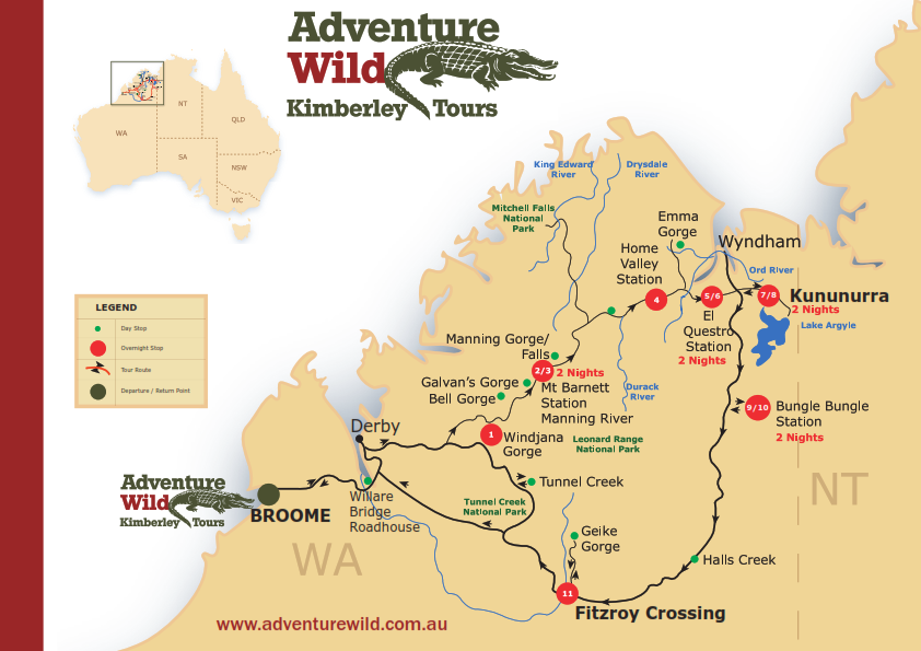 Kimberley Adventurer – Map A4 Horizontal_001